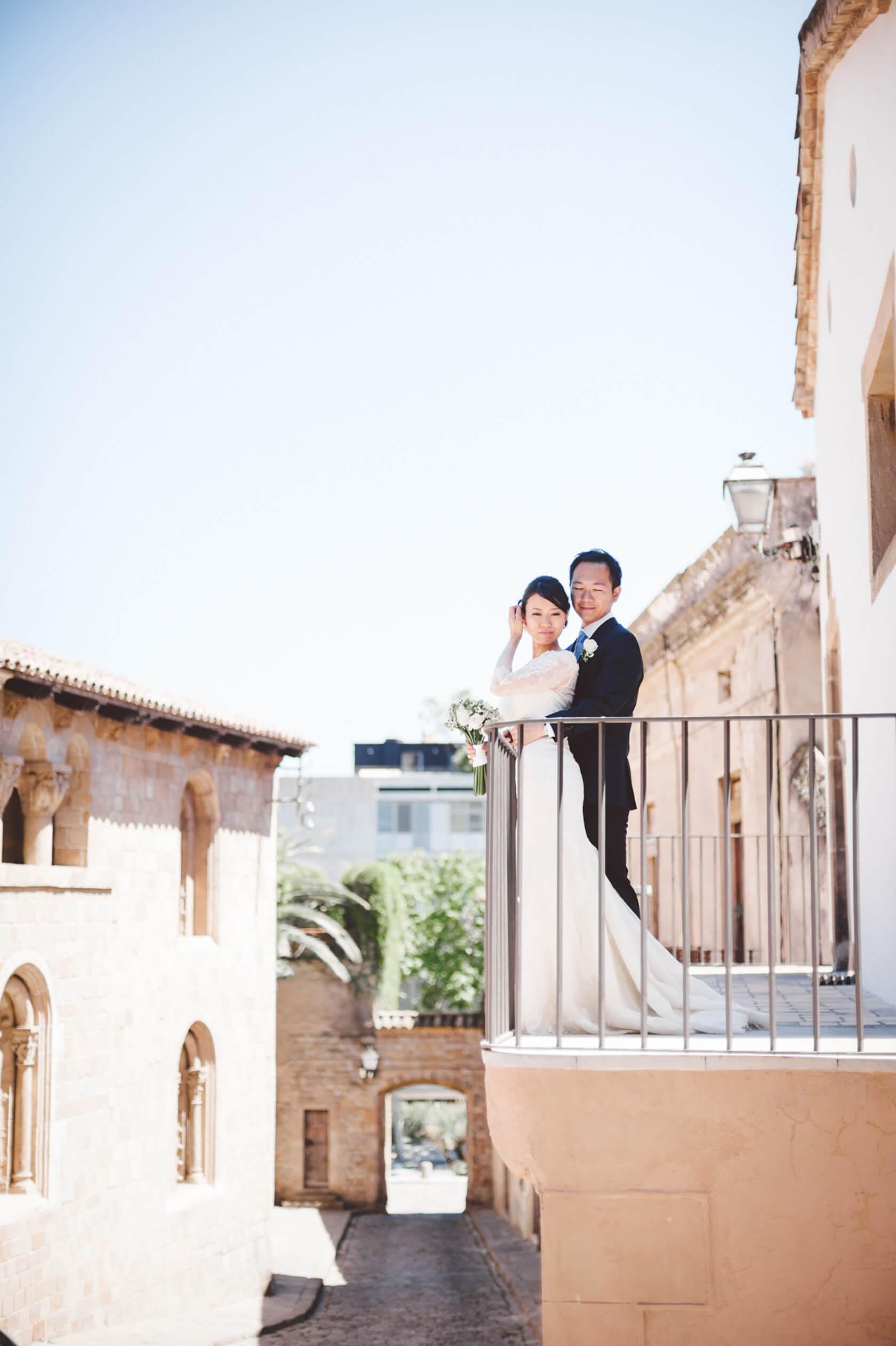 Pedralbes destination wedding Barcelona