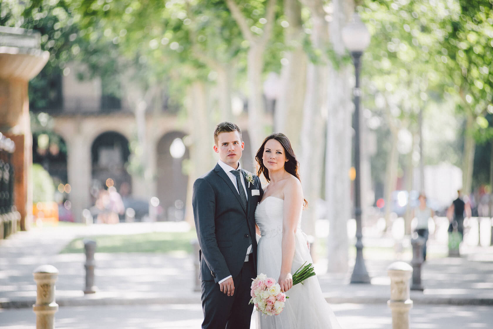 Wedding photo session Ciutadella park Barcelona